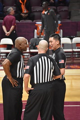 OFFICIAL CONFERENCE (SneakinDeacon) Tags: referee sportsofficial hokies vatech vt virginiatech accbasketball cassellcoliseum collegehoops syracuse orange