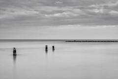 Seascape (iosif.michael) Tags: sony a7 longexposure minimal sea seascape water sky clouds winter bw cyprus landscape larnaca