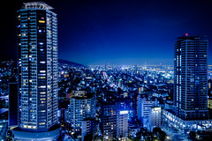 神戸市夜景ーNight view of Kobe city (kurumaebi) Tags: kobe 神戸市 神戸 三宮 sannomiya street 街 fujifilm 富士フイルム xt20 night 夜 夜景 nightview landscape