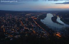 Abendliches Bad Honnef und Rheintal... (apfelpudding) Tags: badhonnef rheintal rheinland nrw nachtfoto langzeitbelichtung blauestunde panorama drachenfels nordrheinwestfalen