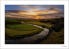 River Nith Sunset - 2020-01-18th (colin.mair) Tags: hdr newcumnock nith sunset border clouds fields frame grass river