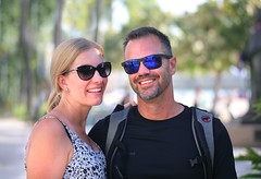 Tourists from Switzerland (ashockenberry) Tags: people tourists beautiful nice hawaii waikiki candid pose sunglasses tropical exotic travel vacation swiss beach pacific ocean oahu ashleyhockenberryphotography european friendly faces sun surf fun beauty smiles love portrait usa