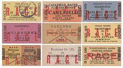 Victorian Railways - Race Issues (1) (norzndave) Tags: vr victorianrailways oldtraintickets edmondsoncardtickets trains race racetickets
