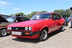 Ford Capri 2.0 S A829UHU (Andrew 2.8i) Tags: s 20 2000 2000s 20s mk3 mk 3 iii mark liftback hatchback hatch coupe sportscar sports ford capri show uk surrey weybridge track circuit brooklands 50th anniversary a829uhu