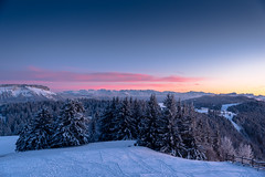 Pink. (Nicomonaco73) Tags: savoie mont revard margerait bauges montagne mountains alpes french alps winter snow snowy trees sapin landscape sunset coucher de soleil cloud sky pink nikon d750