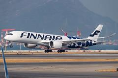"FINNAIR A350-941 OH-LWL ""Marimekko Kivet"" 001 (A.S. Kevin N.V.M.M. Chung) Tags: aviation aircraft aeroplane airport airlines airbus a350 a350900xwb spotting speciallivery plane apron ramp hkg finnair landing"