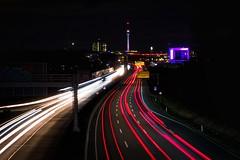 Heimat 💛 (Christian Passi - Steher82) Tags: street autobahn a40 light lights leica leicaq photography photo dortmund night nacht ruhrgebiet ruhrpott langzeit blub color red winter
