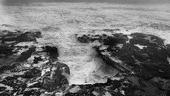 When you stare into the abyss, the does the abyss stare into you? (World-viewer) Tags: rocks rock pacific oregon lonelyplanet explore wonder wander travel iphone8plus plus iphone8 iphone blackandwhite monochrome mono bw cloudy windy weather sight behold amazing swells swell sudsy rage tempest beach thorswell thor'swell spray ocean waves stormyseas seas stormy storm
