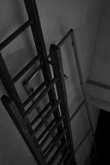 Tu montes? (AlainC3) Tags: échelle stairs nikond7500 noirblanc nb bllackwhite bw