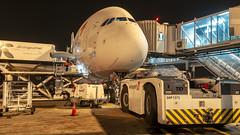 CFR1670 Asiana A380-841 HL7634 (Carlos F1) Tags: nikon d300 airplane aircraft aeronave avión aeroplane asiana airbus a380 a380841 380 380841 hl7634 lebl bcn handling night noche luz light tarmac plataforma elpratdellobregat barcelona spain