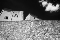 """From the cycle """"Fragments. Journey to yourself"""" (GintarasJ) Tags: france prancūzija infrared infraraudona canon blackandwhite bw urban architecture old"""