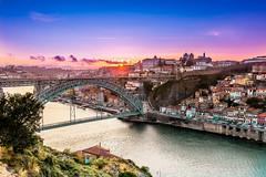 Pearl of Portugal (holecem) Tags: porto portugal portosunset sunset summer river bridge trip sky colors travelphotography