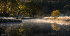 Misty morning (He Ro.) Tags: lakedistrict cold frost mist riverbrathay sunrise elterwater mood water trees england lakeland uk cumbria river autumn colours landscape nature outdoors reflection spiegelung bäume ufer grass