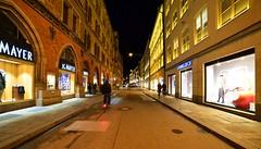 Munich - Dienerstraße (cnmark) Tags: germany munich deutschland münchen bavaria bayern altstadtlehel dienerstrase street road alley fahrrad bicycle shops läden night nacht nachtaufnahme noche nuit notte noite ©allrightsreserved
