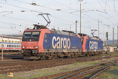 SBB Re 482 008 + 482 007 Basel Bad (daveymills37886) Tags: sbb re 482 008 007 basel bad baureihe bombardier traxx ac1 cargo