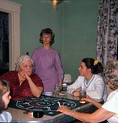 Kim, Grandma Gilb, Donna, Debbie, Sis (RLT59) Tags: cincinnatiohio michiganrummy 1960s