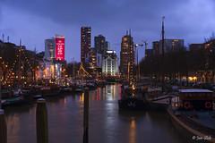 Haringvliet Rotterdam (Jan Slob) Tags: rotterdam zuidholland netherlands holland haringvliet bluehour blauweuur city nikon nikond750 ©allrightsreserved geotagged nikon50mm14