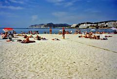 Santa Ponça, Mallorca, 8th September 1996 (Linda 2409) Tags: beach sand bay