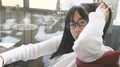 SAKURAKO. (MIKI Yoshihito. (#mikiyoshihito)) Tags: sakurako 櫻子 さくらこ 娘 daughter サクラコ 長女 11歳3ヶ月 cafe