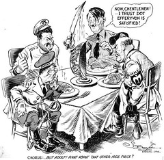 The Axis Powers divide up the world (stillunusual) Tags: nazi nazigermany germany ussr sovietunion soviet russia adolfhitler hitler josefstalin josephstalin stalin nazisovietpact ribbentropmolotovpact molotov–ribbentroppact allies secondworldwar worldwar2 ww2 wwii history poland polska cartoon 1930s 1939