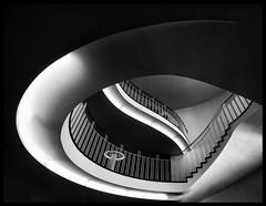 """ mit Schwung "" (antonkimpfbeck) Tags: architektur art treppe monochrome bw fujifilm"