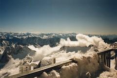 Blick über die Berge beim Ausflug zur Zugspitze (evi früher evioletta) Tags: zugspitze bayern eis schnee
