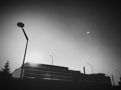 The Office (mgneb) Tags: bw black white mono monochrome noir blanc blanco bianco nero negro paris france city donwtown urban street streets europe architecture building office fade noiretblanc nb