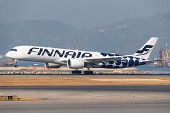 "FINNAIR A350-941 OH-LWL ""Marimekko Kivet"" 002 (A.S. Kevin N.V.M.M. Chung) Tags: aviation aircraft aeroplane airport airlines airbus a350 a350900xwb spotting speciallivery plane apron ramp hkg finnair landing"