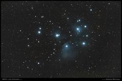 M45 - Les Pléiades (Adrien Witczak) Tags: adrienwitczak astrophotographie astrophotography astronomie astronomy cielprofond deepspace m45 lespleiades amas nébuleuse espace ciel astrometrydotnet:id=nova3879416 astrometrydotnet:status=solved