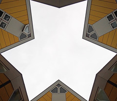 Rotterdam cubic houses (Michael Kalognomos) Tags: cubichouses yellow sony sonyalpha photography sony1650mmf3556oss sonya6400 architecture sky star rotterdam netherlands holland travelphotography colors minimal urbanlandscape