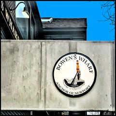 Bowen's Wharf (Timothy Valentine) Tags: large sign sky 0120 2020 squircling bowenswharf sliderssunday newport rhodeisland unitedstatesofamerica