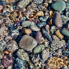 Pebbles Under Water (chrisjangeorge) Tags: pebbles water stream colours patterns shapes natural