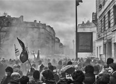 révolte paris (laurent.triboulois) Tags: paris city revolt blackandwhite villle downtown streert rue people manif liberté liberty gens rebel rebelle demonstration smoke libertée