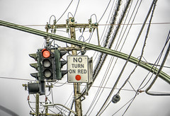No Turn On Red (JMS2) Tags: signs wires cables street stop redlight rules road