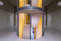 Staircase 3 (genf) Tags: eindhoven noordbrabant strijps gebouw building gerard yellow geel stairs staircase stairwell trappen trappenhuis sony a99ii tamron 1530 indoor binnen architecture architectuur