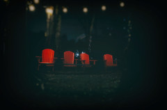 Please...be seated... (8230This&That) Tags: redchairs nightphotography inthedark haveaseat chairs 4redchairs aplacetosit rhodeisland ri spooky moody atmospheric haunting