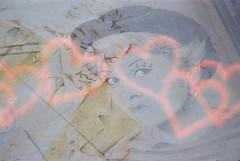 Federico + Giulietta (Liebe) (goodfella2459) Tags: nikonf4 konoliebe200 35mm c41 film analog colour multipleexposure doubleexposure experimental abstract rimini italy borgosangiuliano cinema cinemahistory federicofellini giuliettamasina lastrada mural streetart manilovefilm