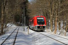 DB 641 034 Reinhardsbrunn, 16.03.2013 (Tramfan2011) Tags: db deustchebahn schnee wald