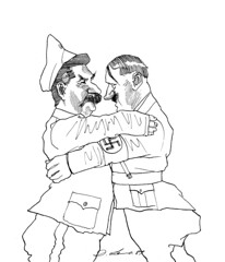 Big hugs (stillunusual) Tags: nazi nazigermany germany ussr sovietunion soviet russia adolfhitler hitler josefstalin josephstalin stalin nazisovietpact ribbentropmolotovpact molotov–ribbentroppact allies secondworldwar worldwar2 ww2 wwii history poland polska cartoon 1930s 1939
