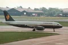 G-BVYC (IndiaEcho) Tags: airport aircraft aeroplane airfield airlikner aviation jet man manchester caledonian egcc gbvyc