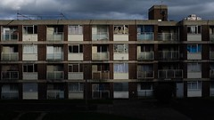 Going, going.... (No Great Hurry) Tags: derelict housing c20 atmospheric structure constructuralart shadows shade rearwindow windows awaitingdemolition councilhousing socialhousing woolwich london robinmauricebarr nogreathurry