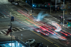 steamed in traffic release V (pbo31) Tags: sanfrancisco california nikon d810 night dark color january 2020 boury pbo31 winter city urban civiccenter patrix siemer over foxplaza lightstream traffic roadway motion blur