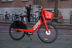 uber (fotorotterdam) Tags: fiets bicycle uber rotterdam jump
