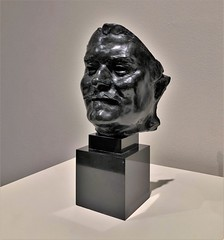 Balzac, Smiling Mask  [replica] (ArtFan70) Tags: balzacsmilingmask balzacmasquesouriant augusterodin rodin cantorartscenter cantor artmuseum stanforduniversity stanford university california ca unitedstates usa america art mask bust sculpture honorédebalzac honoredebalzac novelist playwright writer literature shortstory shortstories plays author realism novel novels
