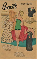 CHOSE THE POLKA DOT DRESS (Kleiaa) Tags: boots bootspaperdoll newspaperpaperdoll paperdoll