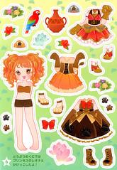 Princess Kirara: Sticker/Paper Doll Book Pg. 6 (Daiso - Japan) Princess Leona of Animal Land (JillyBeanSSF) Tags: paperdoll