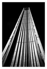 Mainstay (Jean-Louis DUMAS) Tags: black bw nb white noir blanc architecte architect nuage cloud sky ciel architectural architecture noireblanc photos noretblanc travel trip abstract abstraction abstrait blackandwhite blackwhite blackwhitephotos noiretblanc noirblanc