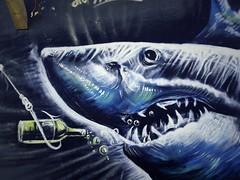 Shark Attack (nothinginside) Tags: shark jaws squalo 2020 graffiti mural murales beer pop urbex beach seaside shores malta winter walk street art