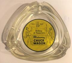 MIDWAY CHUCK WAGON SAN DIEGO,CALIF (ussiwojima) Tags: midwaychuckwagon buffet restaurant sandiego california glass advertising ashtray