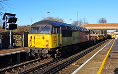56049 is seen on engineering duties at Slade Green on 19-1-20. Copyright Ian Cuthbertson (I C railway photo's) Tags: class56 56049 colas colasrail sladegreen engineerstrain grid